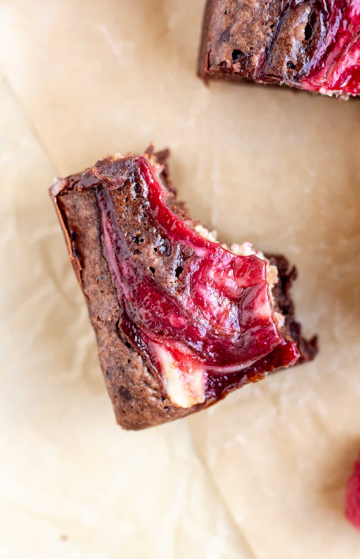 Raspberry Swirl Cheesecake Brownies