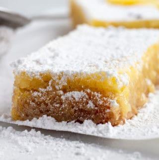 Lavender Lemon Shortbread Bars
