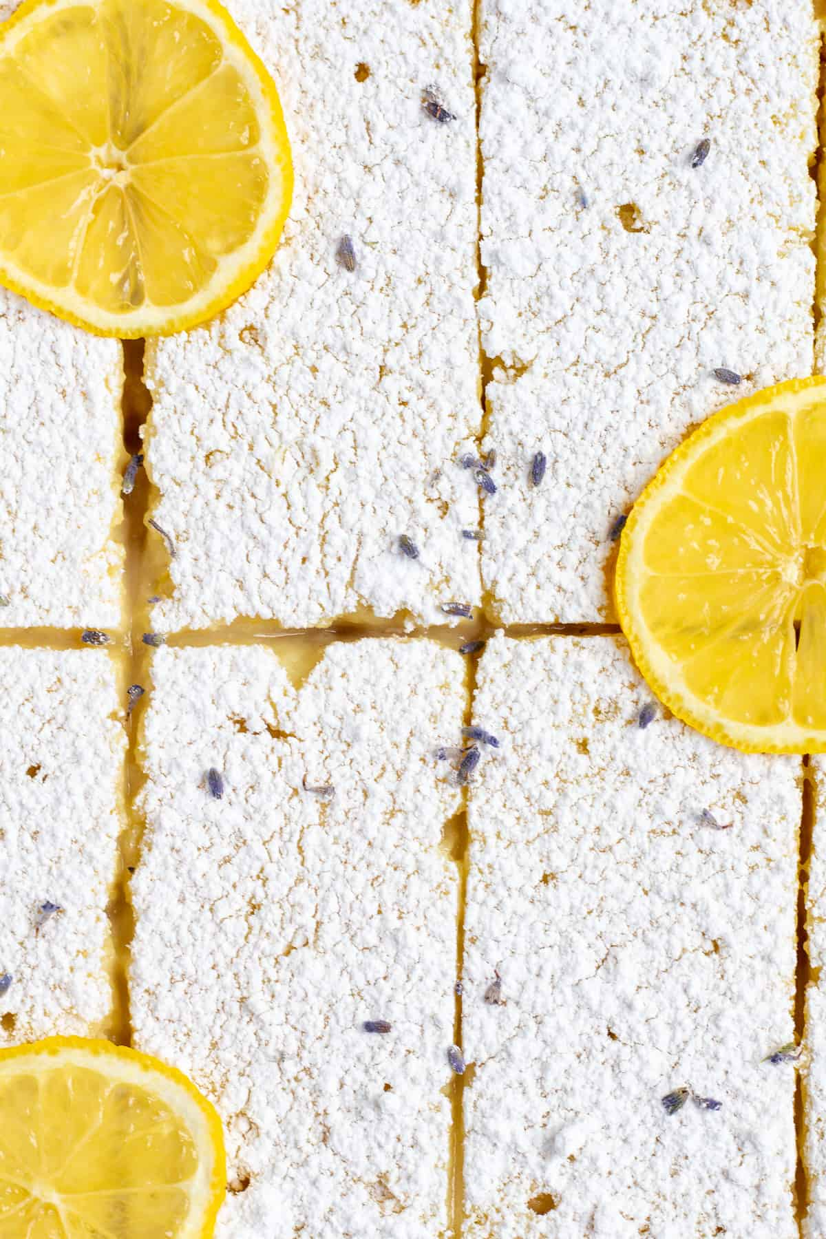 Lavender Lemon Shortbread Bars