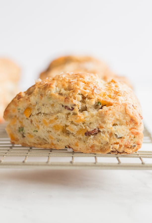 Bacon, Cheddar and Chive Scones