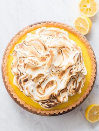 Meyer Lemon Ginger Tart with Toasted Honey Meringue