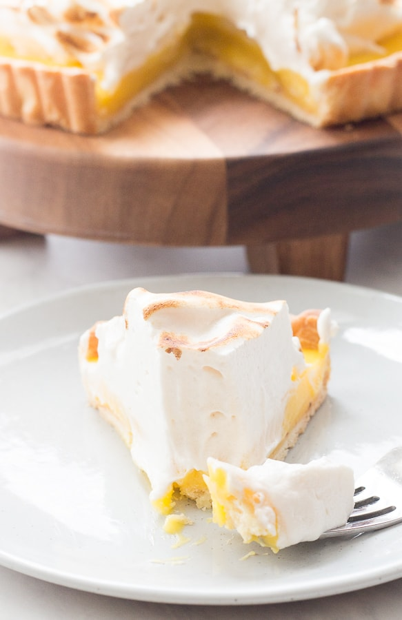 Meyer Lemon Ginger Tart with Toasted Honey Meringue
