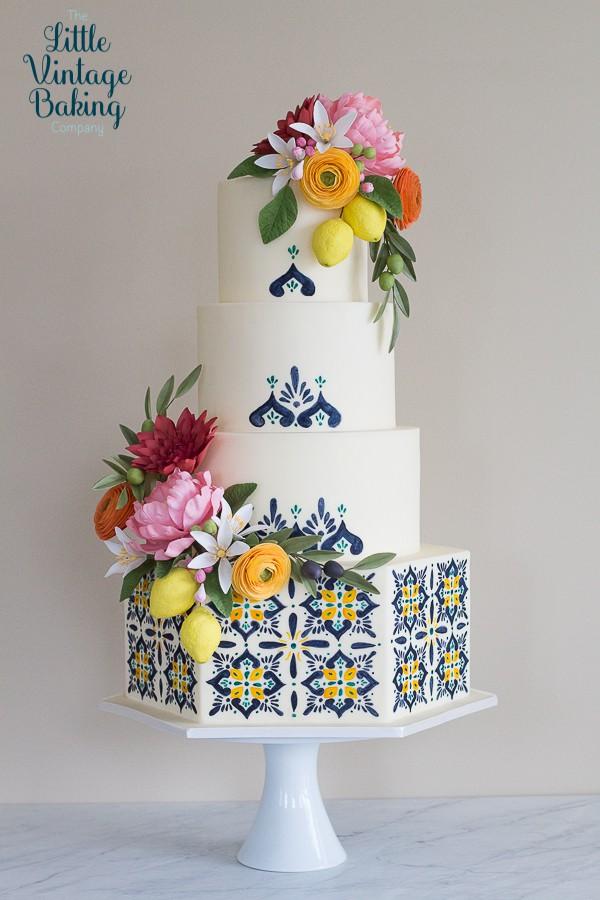 Mediterranean Tile Cake