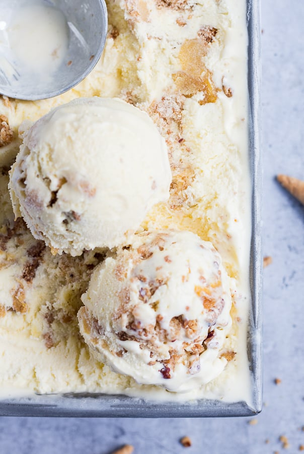 Roasted Peach Crisp Ice Cream
