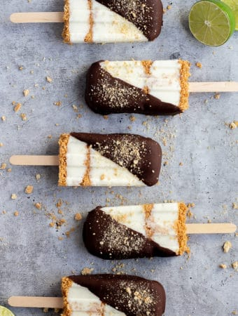 Chocolate Dipped Key Lime Pie Pops