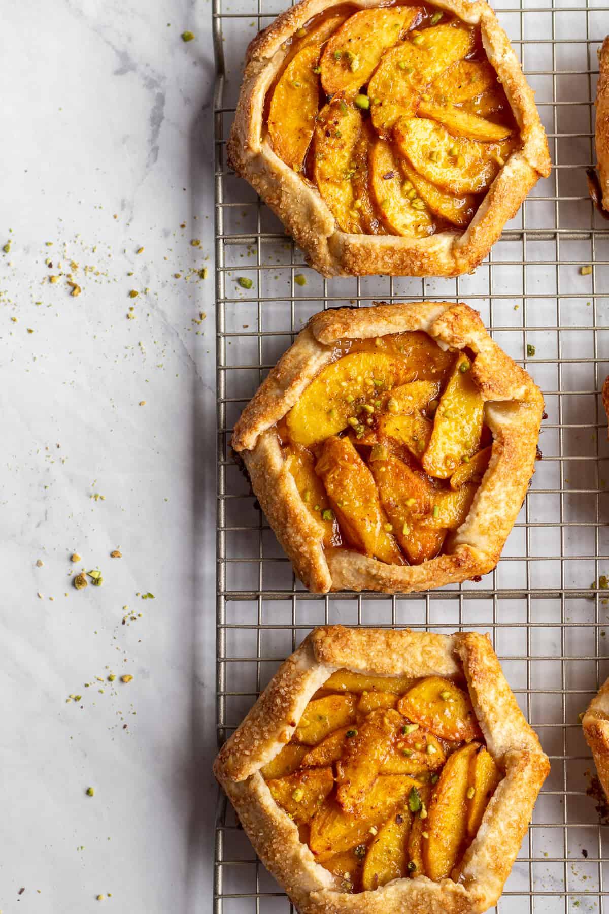 Honey Cardamom Peach Galette