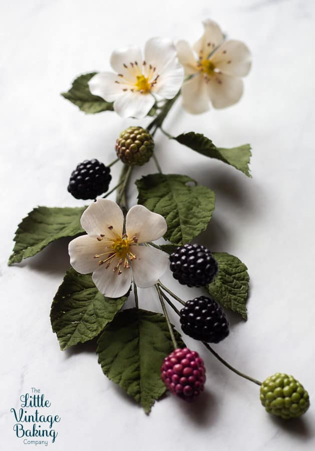 Gum Paste Blackberries