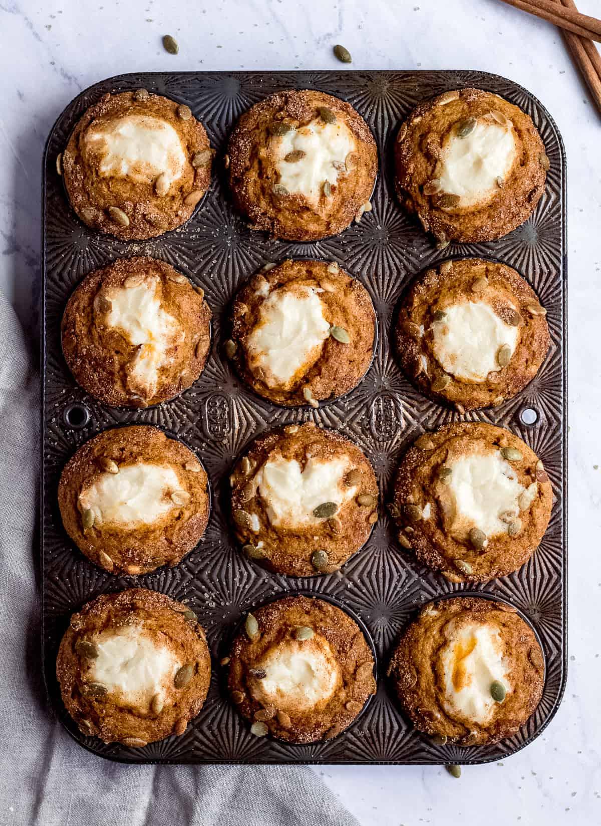 Cream Cheese Pumpkin Muffins