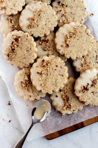 Brown Butter Maple Pecan Cookies