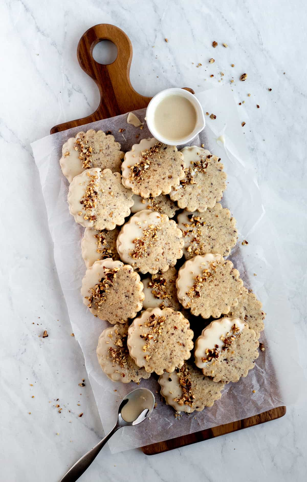 Brown Butter Maple Pecan Cookies