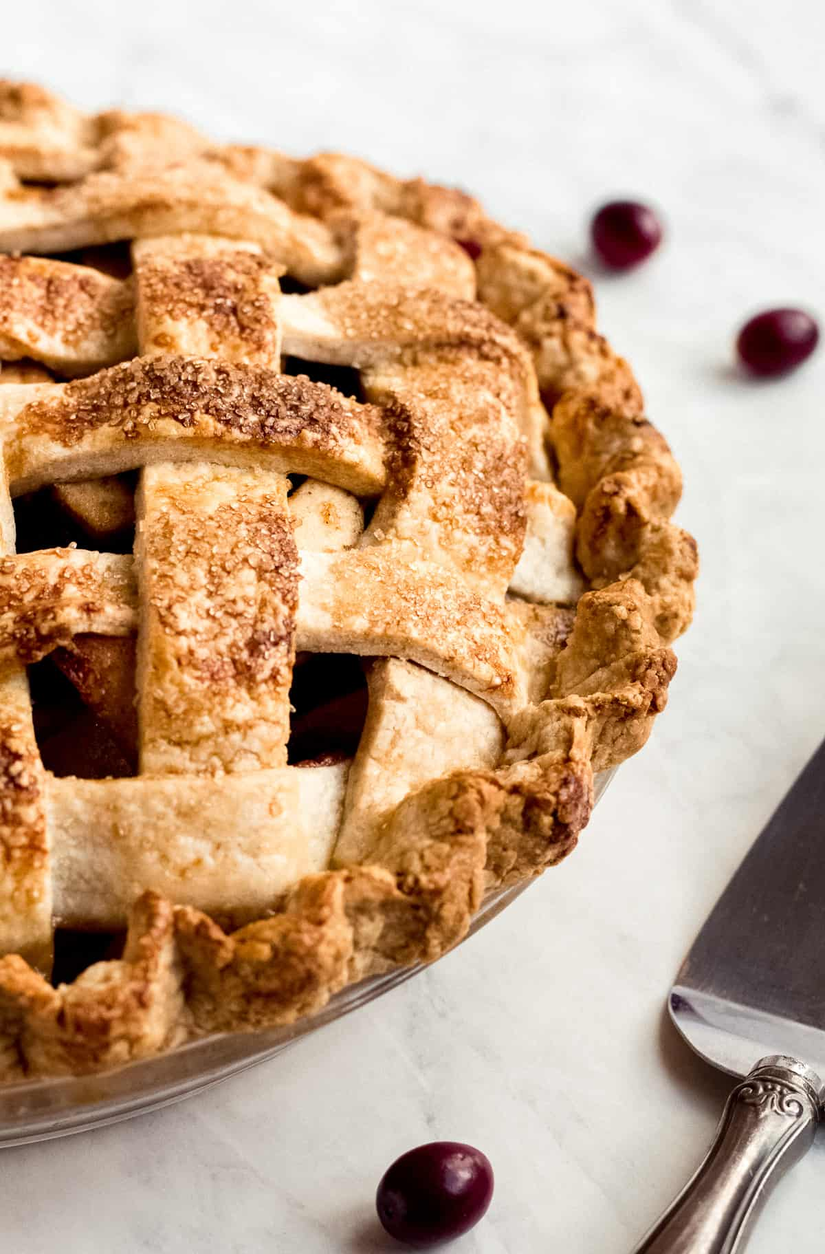 Chai Spiced Apple Cranberry Pie