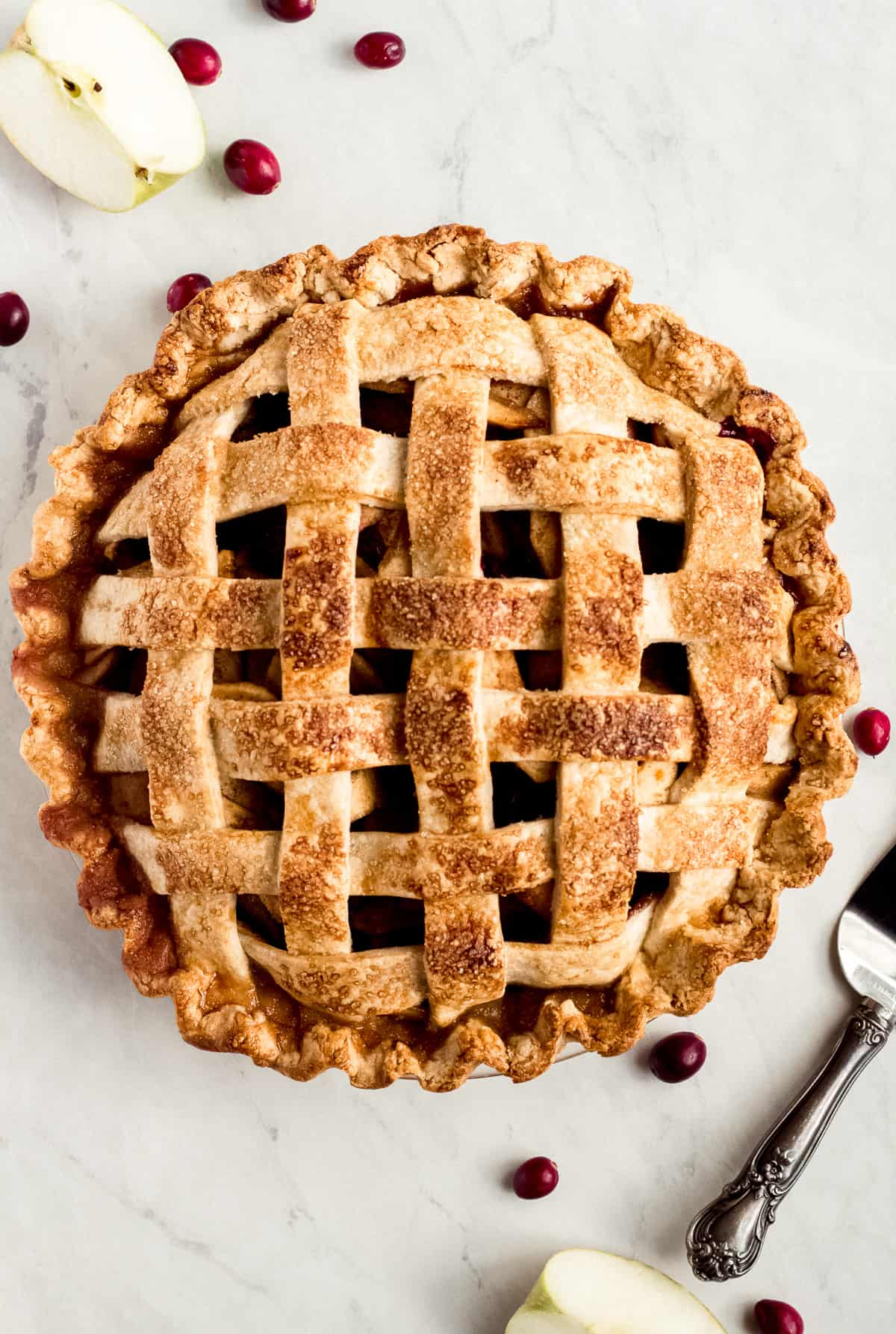 Chai Spice Apple Cranberry Pie