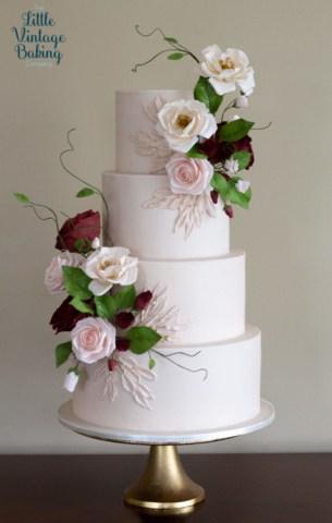 Romantic Roses Cake
