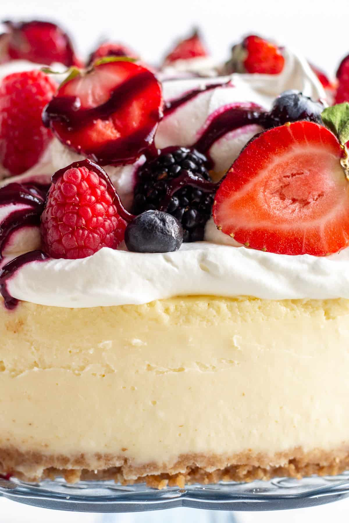 Summer Berry Eton Mess Cheesecake
