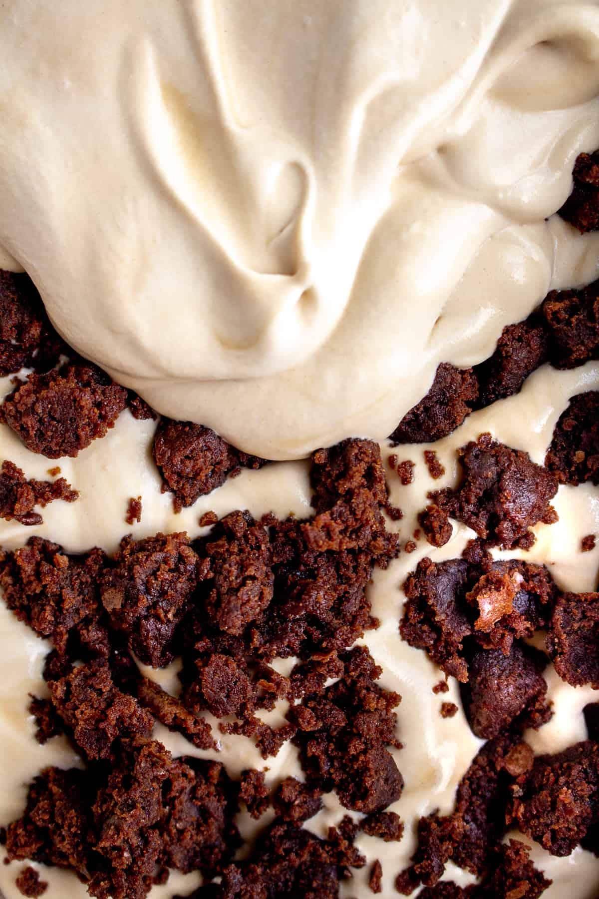 Coffee Brownie No Churn Ice Cream