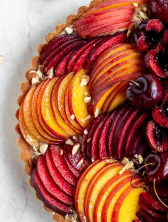 Brown Butter Stone Fruit Tart
