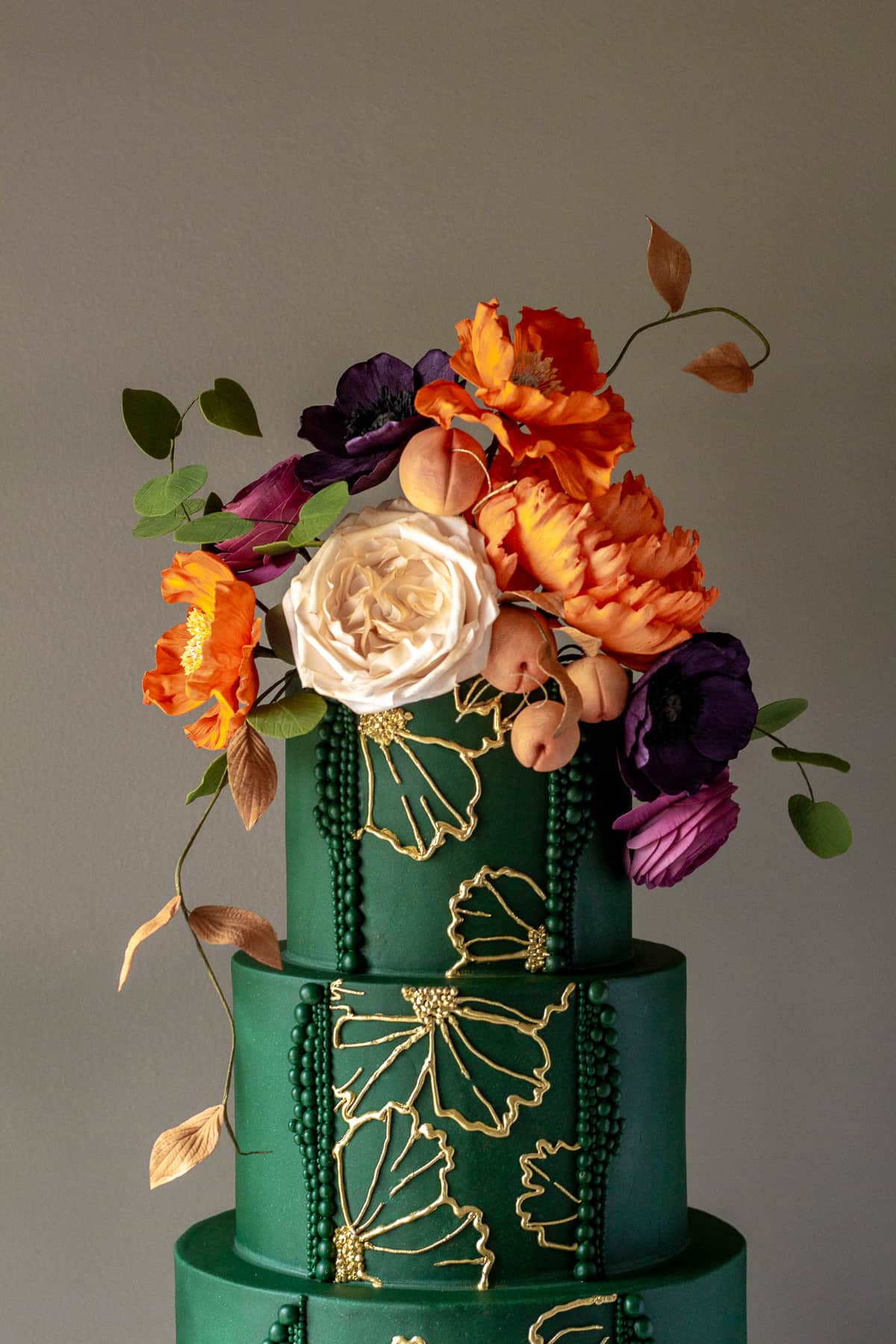 Easy Floral Piped Royal Icing Cake Tutorial