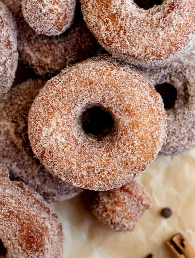 Mulled Apple Cider Cake Donuts