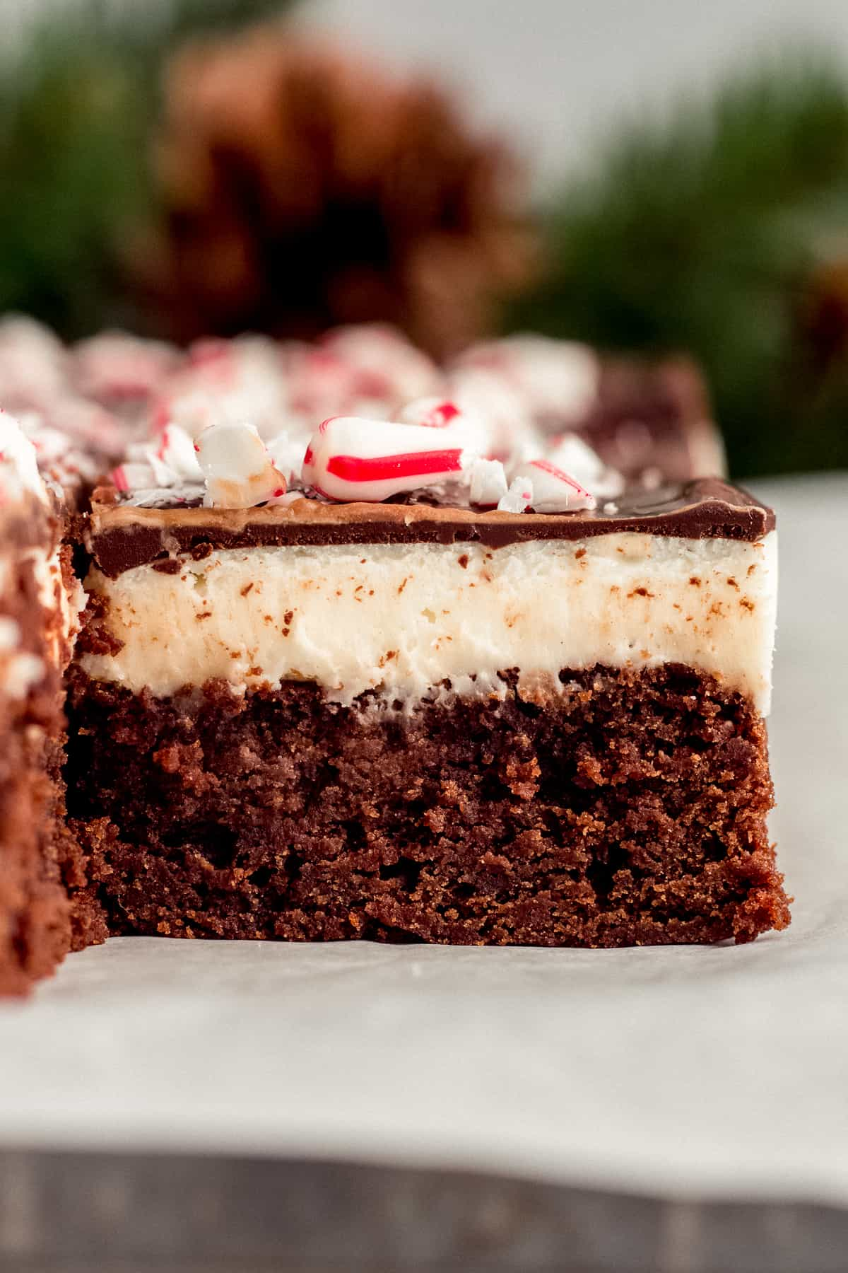 Peppermint Bark Fudge Brownies