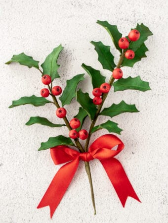Gum paste Holly and Berries