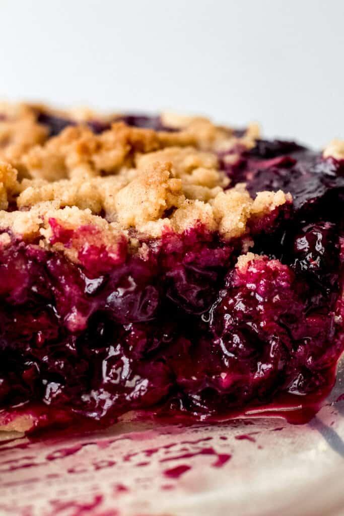 Triple Berry Crumb Pie