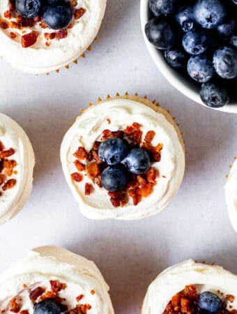 Maple Bacon Blueberry French Toast Cupcakes