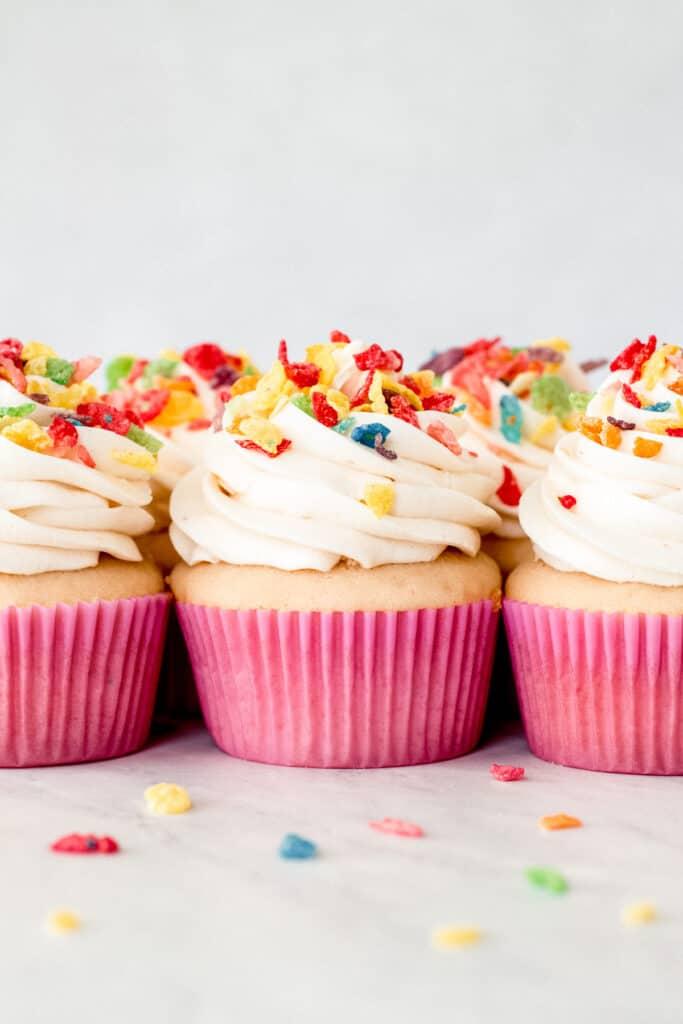Fruity Pebble Cupcakes