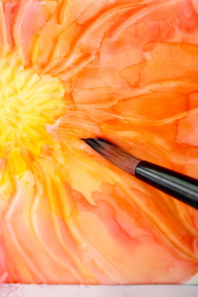 Easy Watercolor Flowers Cake