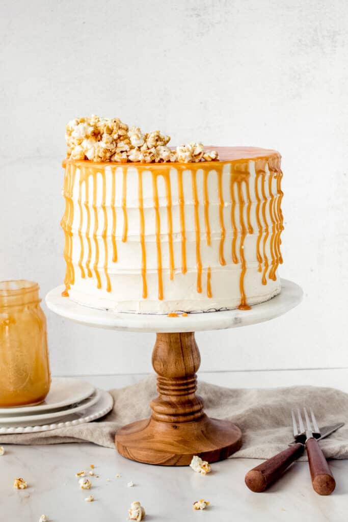 Salted Caramel Corn Cake